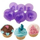 Hearts Mini Fondant Cut-Outs Set